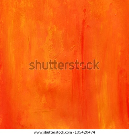 Orange Paint Water Color Paper Texture Background Scrapbooking