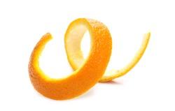 Orange peel isolated on white background