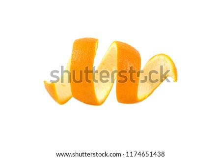 orange peel isolated on white background #1174651438