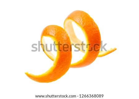Orange peel  isolated on white background.