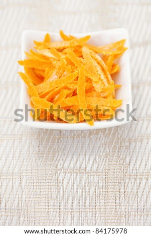 orange peel ready to be used to cook - fruits and vegetables