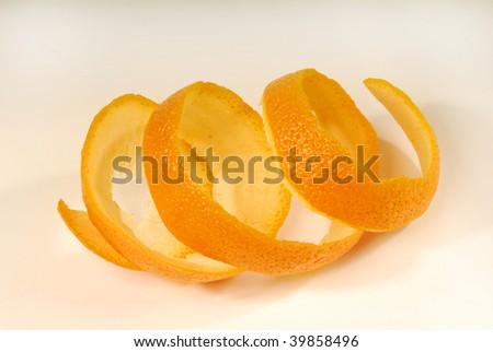 orange peel with white background