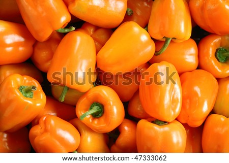 Orange pepper background