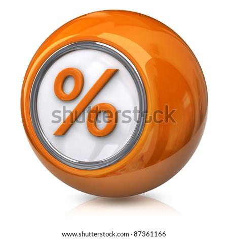 Orange percentage icon