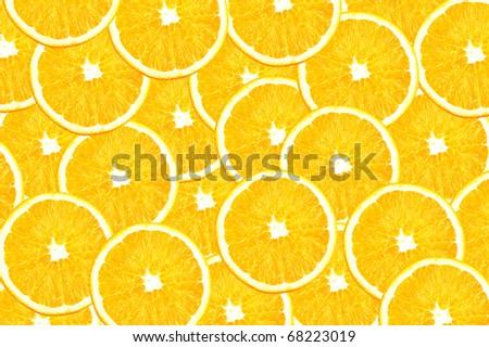 Orange pulp for background - stock photo
