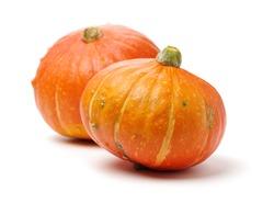 Orange pumpkin on white background