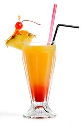 Orange red cocktail