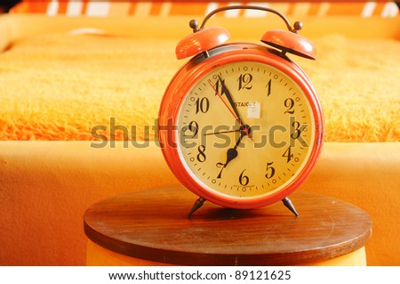 Orange Retro Clock