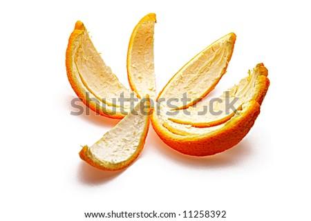 orange rind isolated on white background