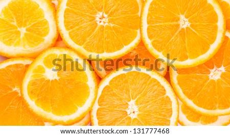 Orange rings as background