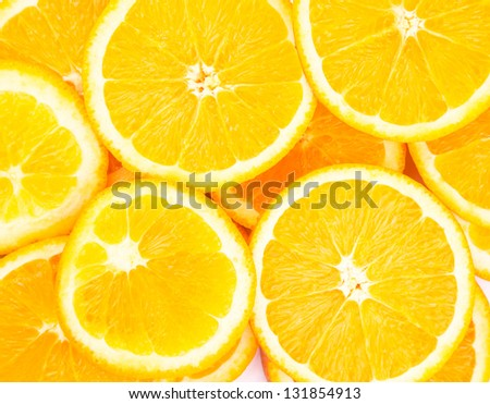 Orange rings as background