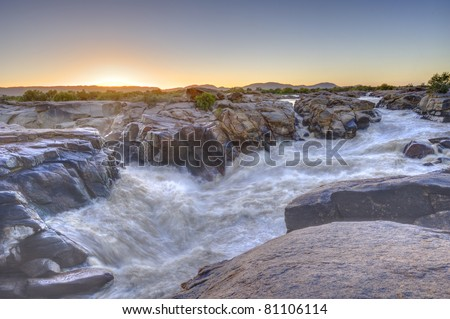 ORANGE RIVER AT AUGRABIES FALLS, AUGRABIES NATIONAL PARK, NORTHERN CAPE, SOUTH AFRICA ,