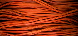 orange rope for climbing and climbing. background image of the rope for active sports.