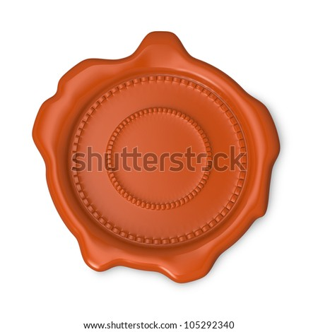 Orange seal of approval on white background