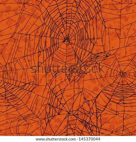 Orange seamless Halloween pattern