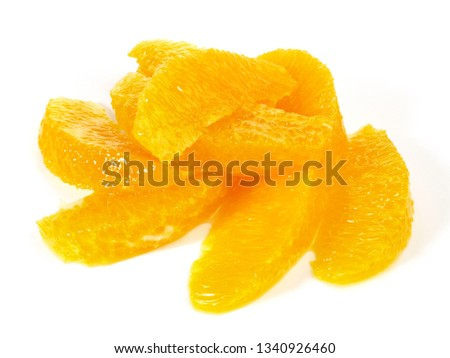 Orange Segments on white Background