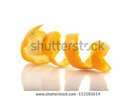 Orange Shell Isolated #113183614