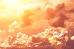 Orange sky at sunset