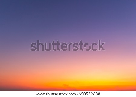 Orange sky background with white clouds sunset.