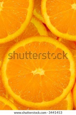 orange slice background - stock photo