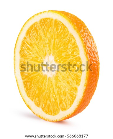 orange slice isolated on the white background