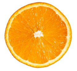 Orange slice isolated on white background.