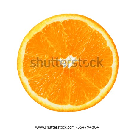 Orange slice isolated on white background #554794804