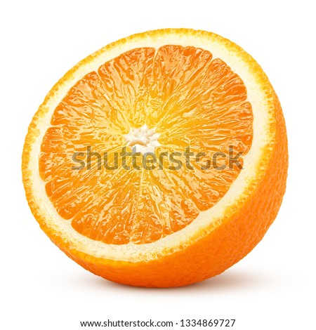 orange slice isolated on white background, clipping path, full depth of field