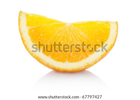 Orange slice isolated on white, clipping path included