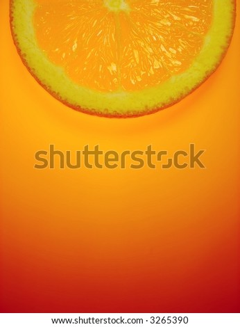 orange slice on orange background