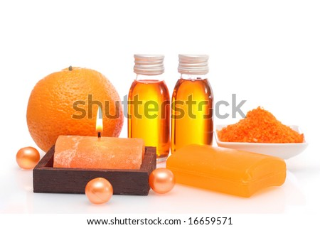 Orange spa isolated on white background
