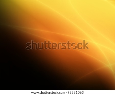 Orange space abstract background