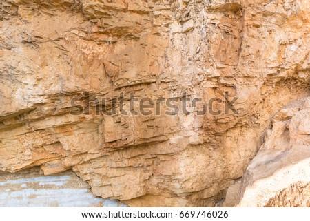 Orange stone pattern on stone mountain #669746026