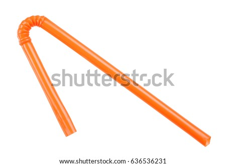Orange straw on white background #636536231