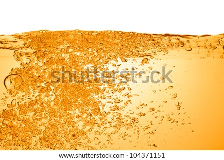 orange summer drink with bubbles