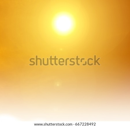 orange sun light background 