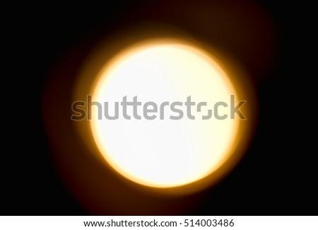 Orange sun on black background hd