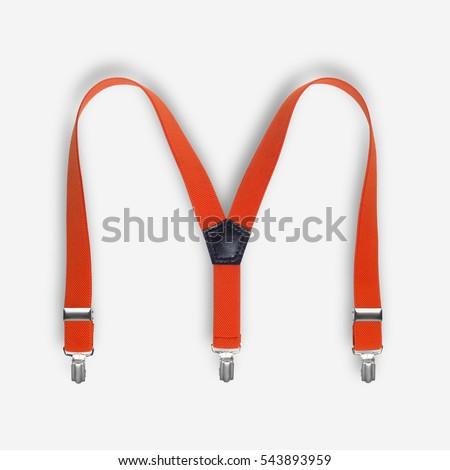 Orange suspenders on a white background Сток-фото ©