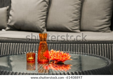 Orange table decorations