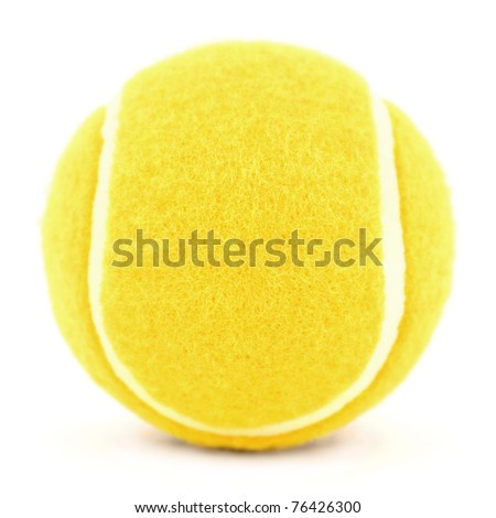 orange tennis ball isolated on white