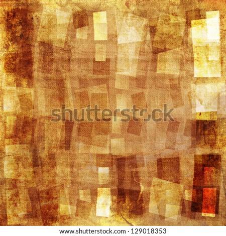 Orange textured grunge canvas background