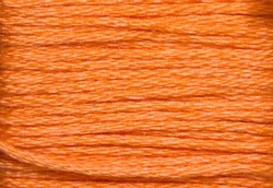 orange threads for embroidery in magnification