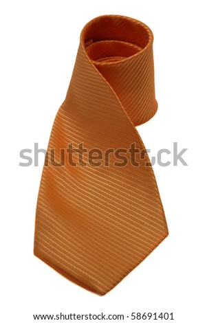 Orange tie isolated on white
