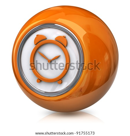 Orange time icon