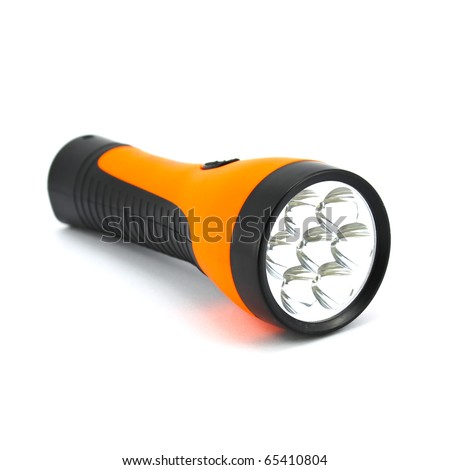 Orange torch isolated on a white background