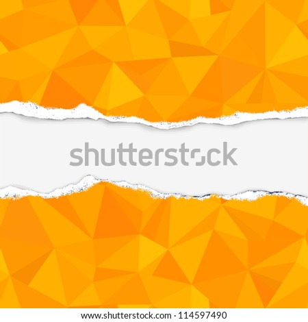 orange triangle pattern (damaged paper with place for text)