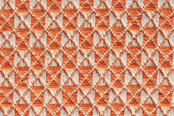 Orange twill woven multicoloured linen weave fabric texure