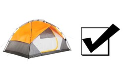 Orange 2 Two Person Camping Tent Isolated on White Background. Dome Tents on Clipping Path. Camping Equipment. Person Tent. Alpine Tent. Modern Shelter. Waterproof Hiking Dome Tent Front View