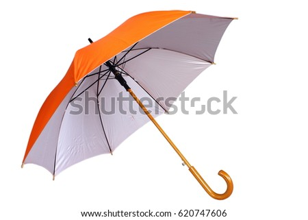 Orange umbrella isolated on white background #620747606