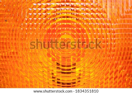 orange vehicle reflector texture background Stock fotó ©